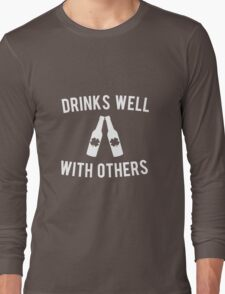 Drinks Well With Others St Patricks Day Long Sleeve T-Shirt