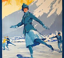 Mont Blanc Ice Skating by Vintagee