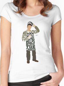 Dexter Typography Design Women's Fitted Scoop T-Shirt