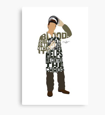 Dexter Typography Design Canvas Print