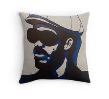 Pop art portrait of Stevie Wonder Throw Pillow