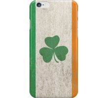 Vintage Irish Ireland Shamrock Flag iPhone Case/Skin