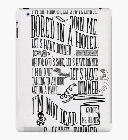 I'm not hungry, let's have dinner iPad Case/Skin