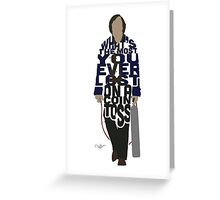 Anton Chigurh in No Country For Old Men Typography Design Greeting Card