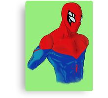 Spider-Man Alternative Suit Design Bust (Green) Canvas Print