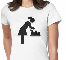 Mother baby diaper Womens Fitted T-Shirt