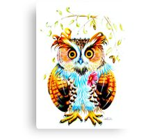 The most beautiful Owl Canvas Print