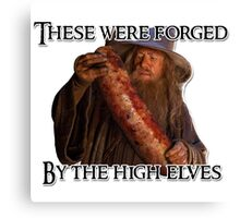 Gandalf sausage Canvas Print