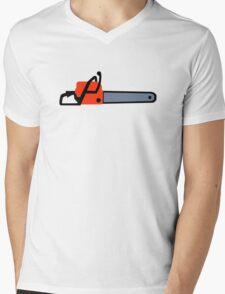Chainsaw Mens V-Neck T-Shirt