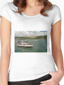 The MV Princessa, Falmouth Harbour Women's Fitted Scoop T-Shirt