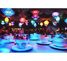 Tea cups Disneyland Photographic Print