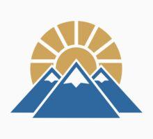 Mountains sun by Designzz