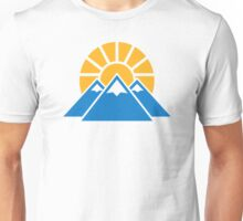 Mountains sun Unisex T-Shirt