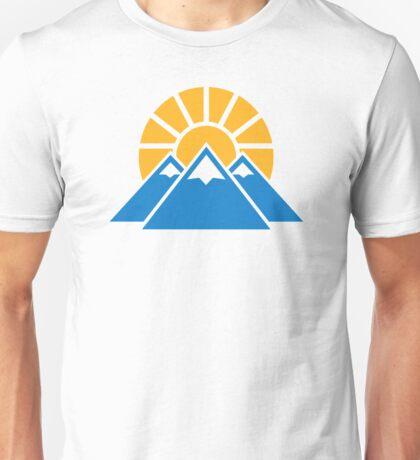 Mountains sun Unisex T-Shirt
