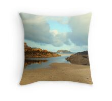 Percy Is boat harbour Throw Pillow