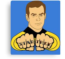 Star Trek Fist Tattoos Canvas Print
