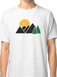 Mountains trees Classic T-Shirt
