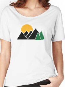Mountains trees Women's Relaxed Fit T-Shirt