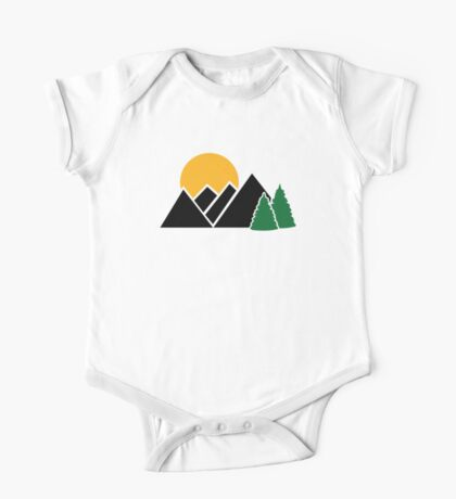 Mountains trees One Piece - Short Sleeve