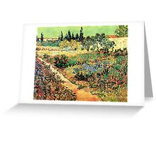 'Flowering Garden With Path' by Vincent Van Gogh (Reproduction) Greeting Card