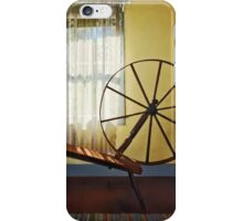 Large Spinning Wheel Near Lace Curtain iPhone Case/Skin