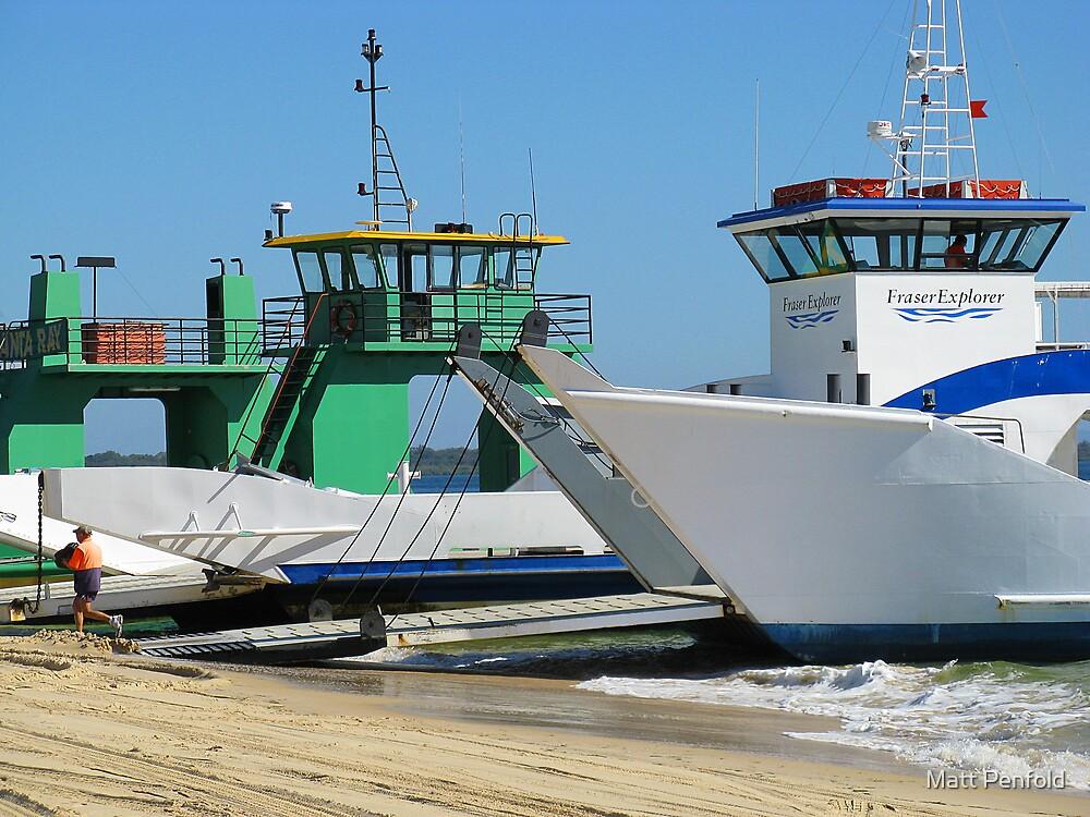 Barges Inskip Point by Matt Penfold