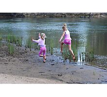 Girls having fun Photographic Print