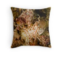 Pissed Cuttlefish Throw Pillow