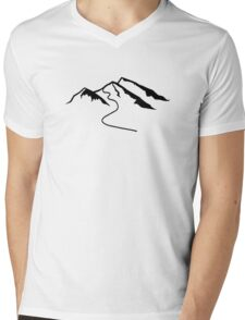 Mountains snow Mens V-Neck T-Shirt