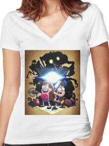 Gravity Falls - Season 2 Women's Fitted V-Neck T-Shirt