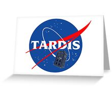 Nasa Tardis Greeting Card
