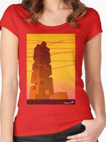 J-buiding sunset Women's Fitted Scoop T-Shirt