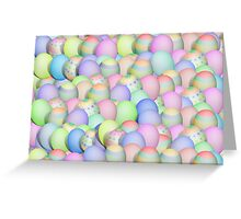 Pastel Colored Easter Eggs Greeting Card