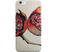 Pomegranate. Pen and wash 2012 iPhone Case/Skin