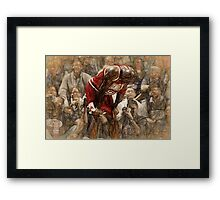 Michael Jordan The Flu Game Framed Print