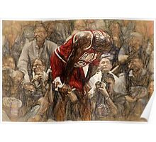 Michael Jordan The Flu Game Poster
