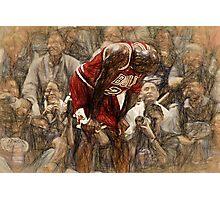 Michael Jordan The Flu Game Photographic Print