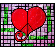 Peace in your Heart Crossword 2015 Photographic Print