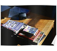 Sunlight on Coffee Table Poster