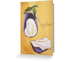 ACEO aubergine Greeting Card