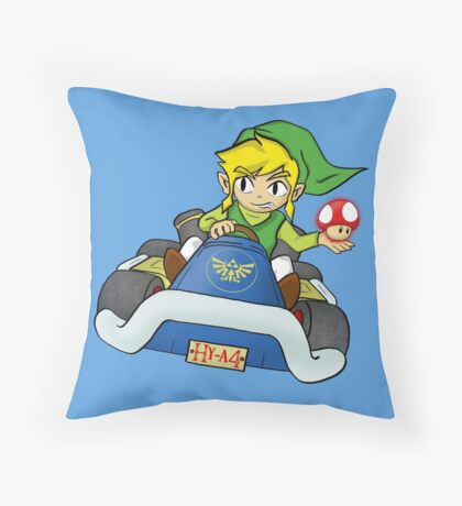Mario Kart: Toon Link Throw Pillow