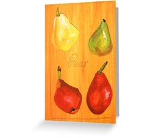 ACEO pears Greeting Card