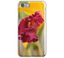 yellow & magenta Orchid  iPhone Case/Skin