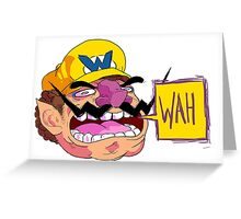 WAH (Wario) Greeting Card