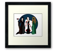 Queens of Darkness - Circle Variant Background Framed Print