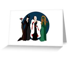 Queens of Darkness - Circle Variant Background Greeting Card