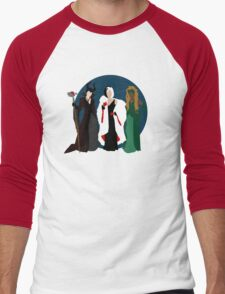 Queens of Darkness - Circle Variant Background Men's Baseball ¾ T-Shirt