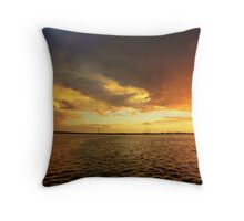 more late night fireworks Throw Pillow