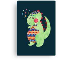 Green Dino Canvas Print