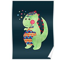 Green Dino Poster